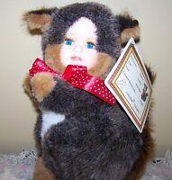 "Ashley Belle 10"" Porcelain Keepsakes Baby Face Stuffed Plush Squirrel"