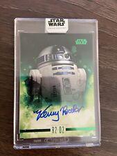 2019 Topps Star Wars Stellar Kenny Baker / R2-D2 Autograph Green 1/20 Auto