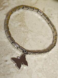 SILVER Butterfly Bracelet Bangle SWAROVSKI Sister Jewelry.30ct Her HANDMADE Gift