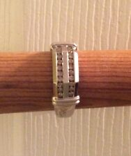 WHITE 14K MENS RING SIZE 13 WITH DIAMONDS