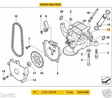 NEW GENUINE BMW E39 M5 OIL PUMP CONNECTING PIPE O - RING 11421741129