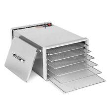 6 Trays Food Dehydrator Commercial Stainless Steel Fruit Dryer Jerky Maker 304
