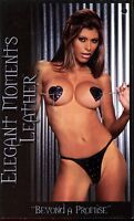 Elegant Moments L1127 Leather Pasties With Tassels And G-String (Black;One Size)
