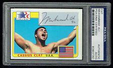 Muhammad Ali signed autograph auto Topps 1983 Olympic Cutsom Card PSA Slabbed