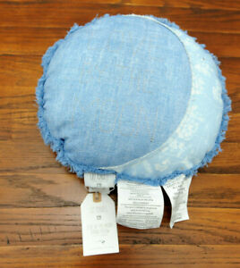 """Pottery Barn Lily Ashwell Love by the Moon Round Pillow Blue 14"""" New With Tag"""