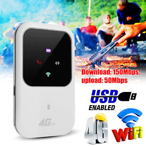 Unlocked 4G-LTE Mobile Broadband WiFi Wireless Router Portable MiFi Hotspot