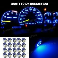 20x Bright Blue Instrument Speedometer Gauge Cluster 12V T10 LED Dash Light Bulb