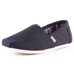 Toms Classic Mens Black Canvas Slip On Shoes