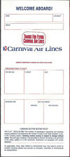Carnival Airlines ticket jacket wallet Welcome Aboard [6124] Buy 4+ save 50%