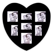 cornice di MDF 30 x 30 cm per 7 foto forma cuore modello Cuore Nero