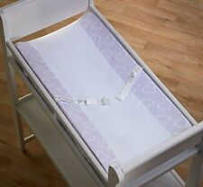 Blooming Hearts Orchid Cotton Velour Changing Pad Cover Lavender/White