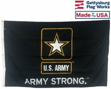 3x5' U.S. Army Strong Durable All-Weather Nylon Outdoor Flag - Made in USA