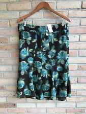 NWT $70 Ann Taylor LOFT Multi Floral Wool Blend Full Skirt - size 14  FAST SHIP