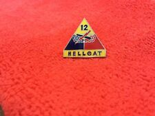 """Us Army 12Th Armored Division """"Hellcat"""" Hat Pin"""