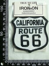 VINTAGE ROUTE 66 USA EMBROIDERED SOUVENIR PATCH WOVEN CLOTH SEW-ON BADGE