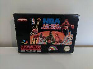 Nintendo Super Nintendo SNES Basketball Game NBA All Star Challenge Boxed