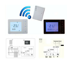 HY01RF RF Wireless Room Thermostat Wall Gas Heating Remote Controller White