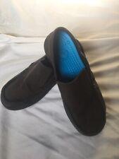 Crocs Juniors Boulder Colorado 5 Black Slip On Loafers Shoes Moccasins
