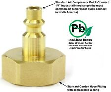 """Winterize Sprinkler Systems, Fits Garden Hose Thread, Quick Connect 1/4"""" Adapter"""