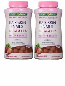 2X- NATURE'S BOUNTY HAIR, SKIN & NAILS GUMMIES 460 Ct- Antioxidants E and C