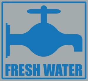 Fresh Water Sticker for Caravan/Motorhome in high quality weatherproof vinyl