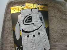 2 CALLAWAY APEX TOUR GOLF GLOVES SIZE EXTRA LARGE CADET  2 NEW MENS