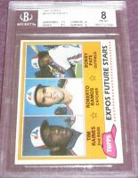 Tim Raines 1981 Topps Rookie Card RC #479 graded BGS (PSA) 8 NmMt Montreal Expos