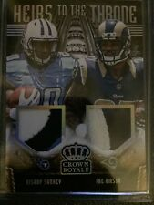 MASON SANKEY 2014 CROWN ROYALE HEIRS TO THE THRONE PRIME 3CLR DUAL JERSEY RC /99