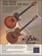 The 1995 Aria Pro Custom Shop PE-MID-1 II Series guitar ad 8 x 11 advertisement