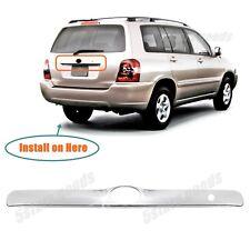 Accessory Chrome Rear Trunk Molding Cover Trim For 2001-2007 Toyota Highlander