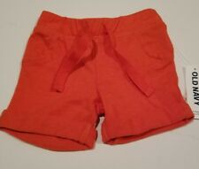 OLD NAVY Boys Shorts 0 3 months Cotton Jersey Red Infant New Baby Soft