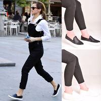 Ladies Womens Slip On Flat Trainers Sneakers Plimsolls Skater Pump Shoe Size 3-8