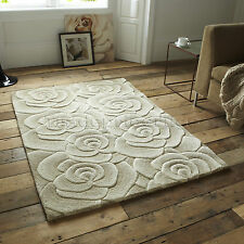 Think Rugs Valentine Vl-10 Wool Indian Hand Carved Rug Beige 150 X 230 Cm
