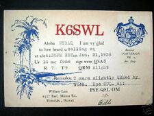Honolulu HI~1938 SHORT WAVE RADIO PC~ K6SWL