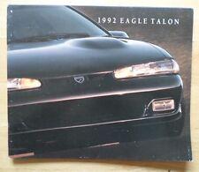 Eagle Talon 1992 USA MKT brochure-AMC american motors