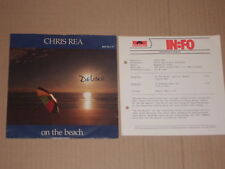 """CHRIS REA -On The Beach- 7"""" mit Product Facts Promo-Flyer"""