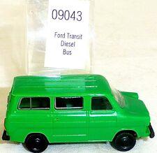 FORD TRANSIT Bus diésel Verde Imu / EUROMODELL 09043 H0 1/87 emb.orig #HO1 å