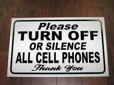 General Business Sign: Turn Off or Silence Cell Phones