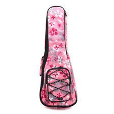 More details for longteam pink flower style 24 inch ukulele bag padded bag shoulder backpack
