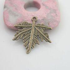 10pcs antiqued bronze color leaf design pendant charm G1818