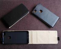 Custodia flip cover per Huawei P10 Lite nera in eco pelle magnetica