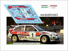 DECALS 1/24 FORD ESCORT COSW CUNICO RALLY MONZA 1992