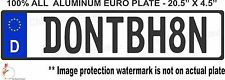 EURO STYLE  TAG BMW 3 5 m series VW European license plate, ALL ALUMINUM. TAG
