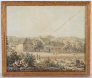 "Vinzenz Georg Kininger (1767-1851) ""Austrian Harvest Scene"", drawing, ca. 1800"