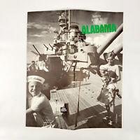 1967 Alabama Vintage Travel Guide Attractions Sites USS Alabama Battleship