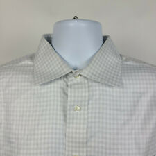 Jos A Bank Signature Tailored Fit Wrinkle Free Gray Check Dress Shirt 16.5 - 34