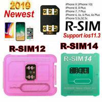 RSIM14 12+ R-SIM Nano Unlock Card for iPhone XS MAX/XR/XS/8/7/6 iOS 12.3 Lot US