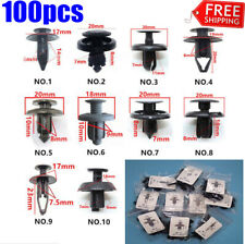 100pcs xTrunk Screw Rivets Set Car Bumper Fender For Auto Plastic Fastener Clips