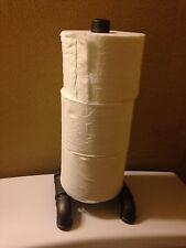 Industrial Pipe 3 Toilet Paper Holder Storage Free Standing Pipe Art