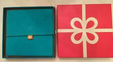 JCPenney Colorful Faux Suede Jewelry Necklace Holder & Gift Box Empty Set Of 2